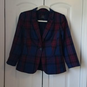 Plaid suit jacket from The Limited.